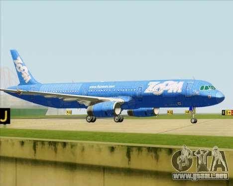 Airbus A321-200 Zoom Airlines para las ruedas de GTA San Andreas