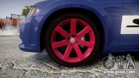 Chrysler 300 SRT8 2012 PJ SRT8 para GTA 4 vista hacia atrás