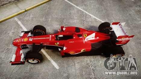 Ferrari F138 v2.0 [RIV] Alonso THD para GTA 4 visión correcta