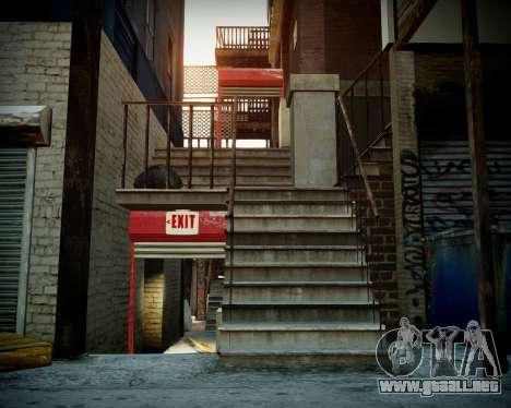 Garaje con nuevo interior Alcalina para GTA 4 adelante de pantalla