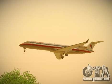 Bombardier CRJ-700 American Eagle para visión interna GTA San Andreas