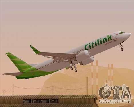 Boeing 737-800 Citilink para el motor de GTA San Andreas