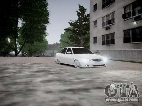 VAZ 2170 para GTA 4 vista hacia atrás