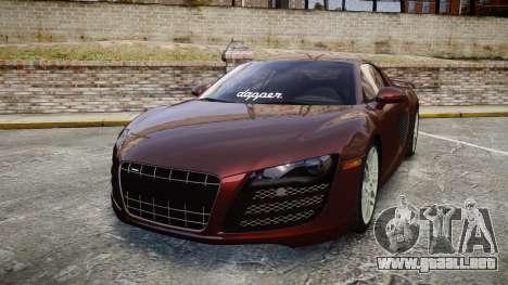 Audi R8 2010 Rotiform BLQ para GTA 4