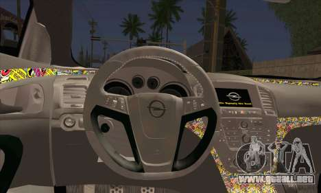 Opel Insignia para GTA San Andreas vista posterior izquierda