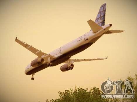 Airbus A321-232 jetBlue Blue Kid in the Town para vista inferior GTA San Andreas