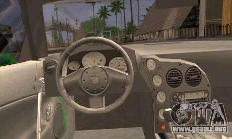 Dodge Viper SRT 10 para GTA San Andreas vista posterior izquierda