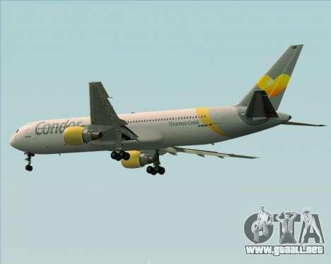Boeing 767-330ER Condor para GTA San Andreas vista hacia atrás