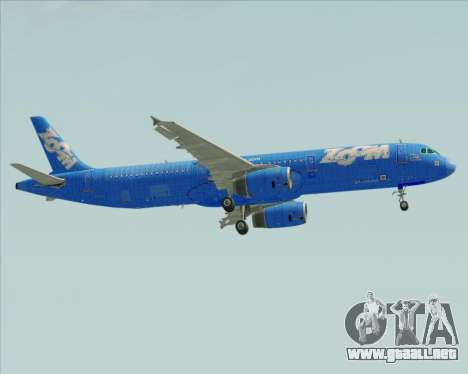 Airbus A321-200 Zoom Airlines para vista lateral GTA San Andreas