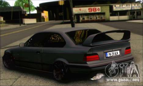 BMW E36 Stanced para GTA San Andreas left