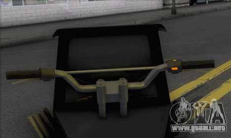 Sweeper from GTA 5 para GTA San Andreas vista posterior izquierda