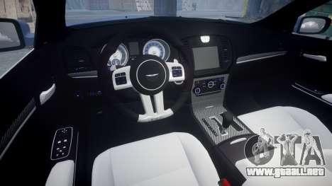 Chrysler 300 SRT8 2012 PJ SRT8 para GTA 4 vista interior