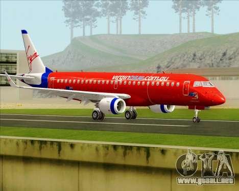 Embraer E-190 Virgin Blue para la visión correcta GTA San Andreas
