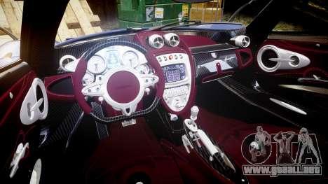 Pagani Huayra 2013 [RIV] para GTA 4 vista interior