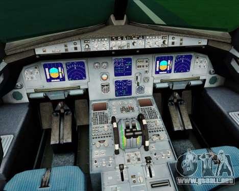 Airbus A321-200 CSA Czech Airlines para GTA San Andreas interior