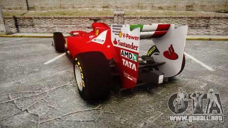 Ferrari 150 Italia Track Testing para GTA 4 Vista posterior izquierda