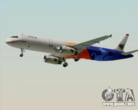 Airbus A321-200 Myanmar Airways International para visión interna GTA San Andreas