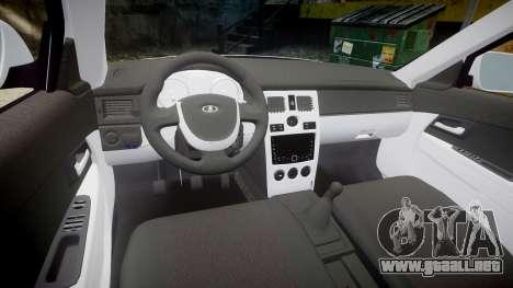 VAZ-2170 de escape AMG para GTA 4 vista interior