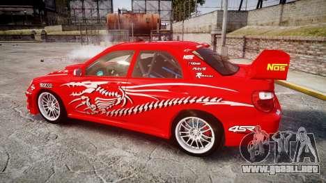 Subaru Impreza WRX STI Street Racer para GTA 4 left