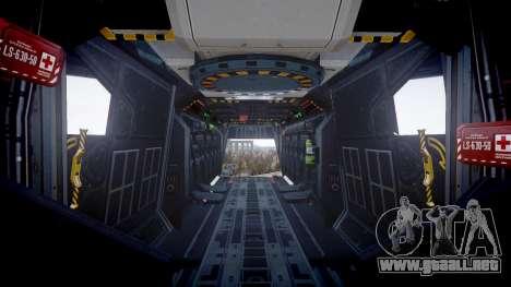 VTOL Warship PJ2 para GTA 4 vista hacia atrás