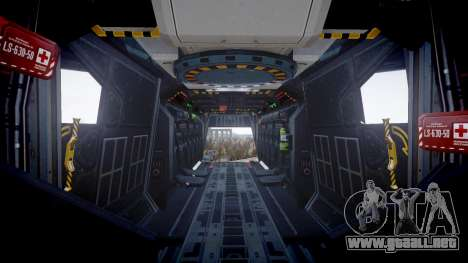 VTOL Warship PJ3 para GTA 4 vista hacia atrás