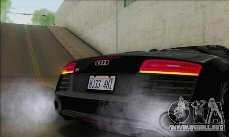 Audi R8 V10 Spyder 2014 para visión interna GTA San Andreas