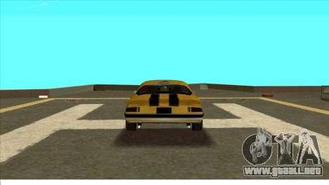 Chevrolet Camaro Z28 Bumblebee para la visión correcta GTA San Andreas