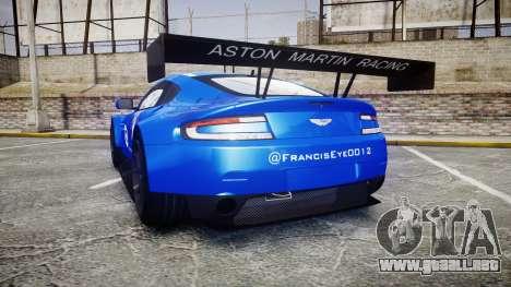 Aston Martin Vantage GTE Nico Yazawa para GTA 4 Vista posterior izquierda