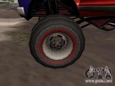 Nuevas texturas Monstruo para GTA San Andreas para GTA San Andreas vista posterior izquierda