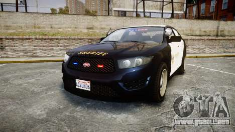 GTA V Vapid Interceptor LSS Black [ELS] Slicktop para GTA 4