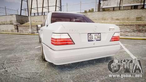 Mercedes-Benz E500 1998 Tuned Wheel White para GTA 4 Vista posterior izquierda