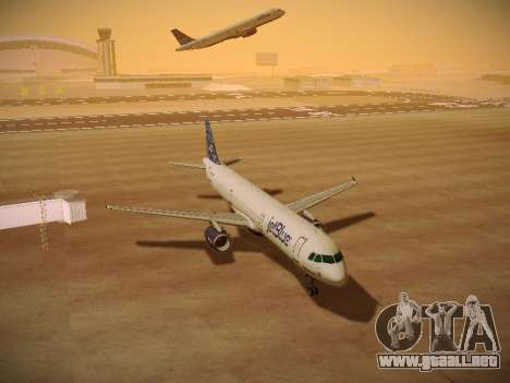 Airbus A321-232 jetBlue Blue Kid in the Town para GTA San Andreas vista hacia atrás