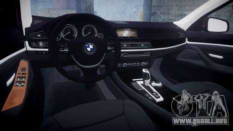 BMW 530d F11 para GTA 4 vista interior