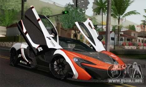 McLaren P1 HQ para vista lateral GTA San Andreas