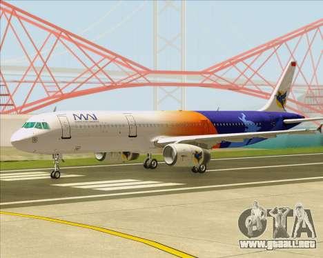 Airbus A321-200 Myanmar Airways International para GTA San Andreas left