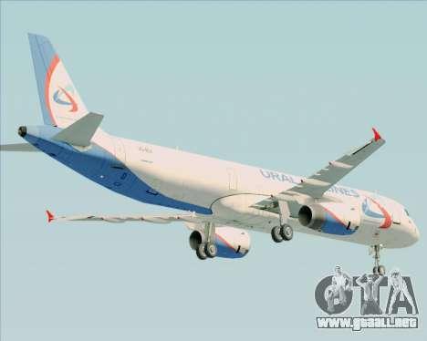 Airbus A321-200 Ural Airlines para vista lateral GTA San Andreas