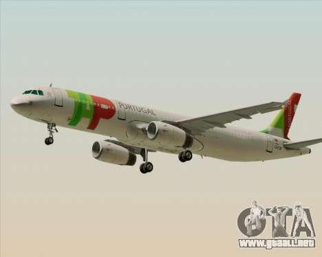 Airbus A321-200 TAP Portugal para GTA San Andreas left