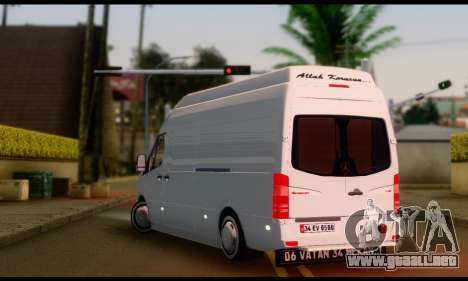 Mercedes-Benz Sprinter Panelvan para GTA San Andreas left