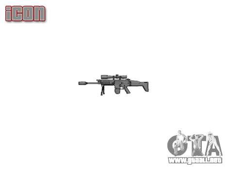 Rifle Mk 17 CICATRIZ-H bípode para GTA 4 tercera pantalla
