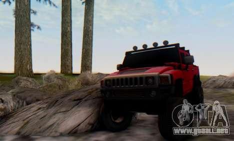 Hummer H6 Sut Pickup para la visión correcta GTA San Andreas