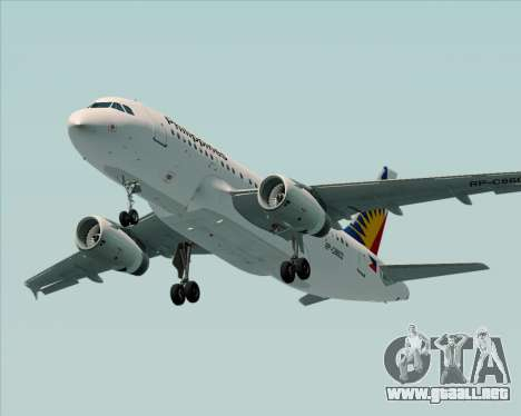 Airbus A319-112 Philippine Airlines para GTA San Andreas interior
