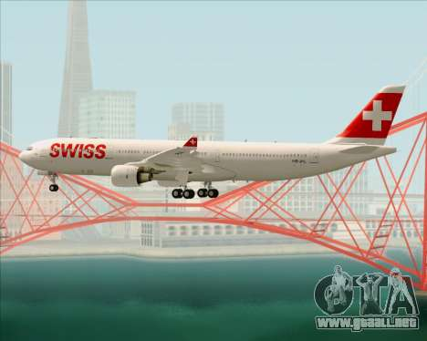 Airbus A330-300X Swiss International Air Lines para las ruedas de GTA San Andreas
