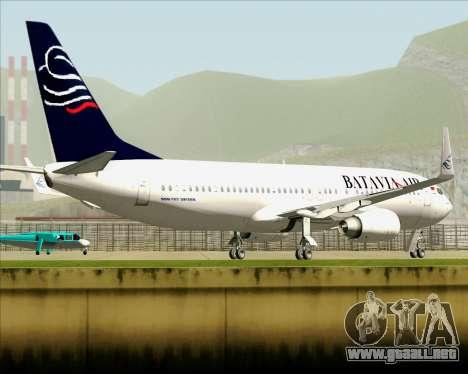 Boeing 737-800 Batavia Air para la vista superior GTA San Andreas