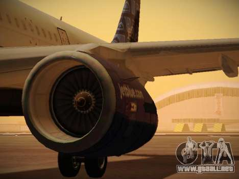 Airbus A321-232 jetBlue Blue Kid in the Town para las ruedas de GTA San Andreas