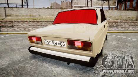 VAZ-2107 estilo de azerbaiyán para GTA 4 Vista posterior izquierda