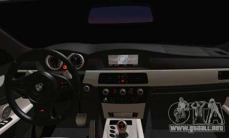 BMW M5 E60 Lumma para GTA San Andreas vista posterior izquierda