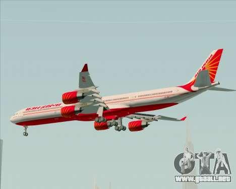 Airbus A340-600 Air India para visión interna GTA San Andreas