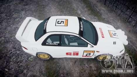 Subaru Impreza WRC 1998 SA Competio v3.0 para GTA 4 visión correcta