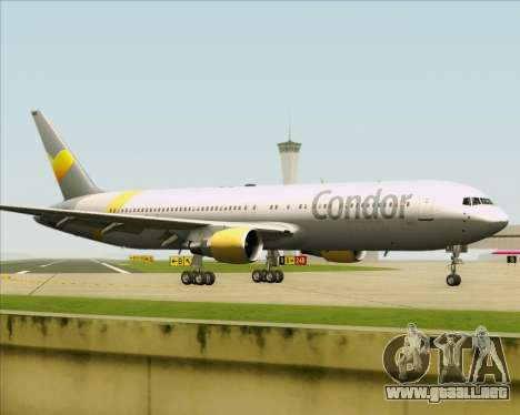 Boeing 767-330ER Condor para visión interna GTA San Andreas