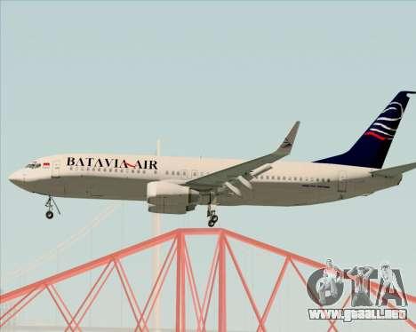 Boeing 737-800 Batavia Air para la visión correcta GTA San Andreas